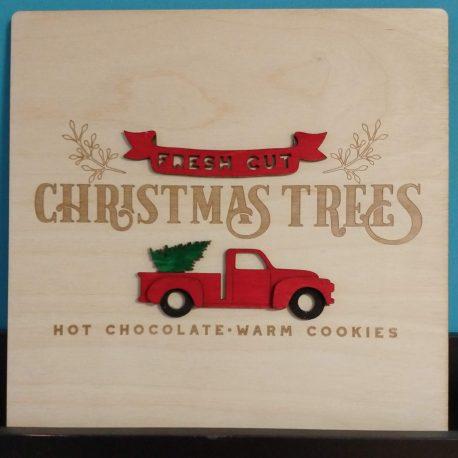 kerstdecoratie red truck